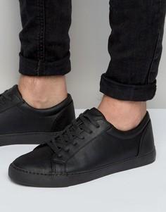 Черные кроссовки на шнуровке ASOS - Черный