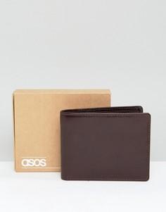 Коричневый лакированный кожаный бумажник ASOS - Коричневый
