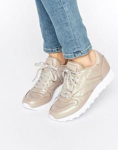 Классические кожаные кроссовки золотистого цвета Reebok - Золотой