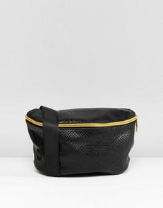 Сумка-кошелек на пояс из искусственной кожи питона Mi-Pac - Черный