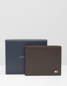 Коричневый кожаный бумажник небольшого размера Tommy Hilfiger Eton - Коричневый