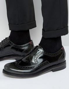 Блестящие кожаные броги Ted Baker Ttanum - Серый