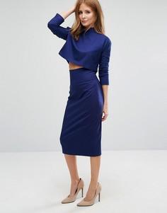 Строгая комбинируемая юбка-карандаш Millie Mackintosh - Синий
