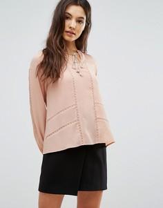 Блузка со складками Greylin Trina - Розовый