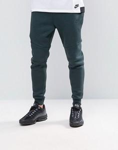 Зеленые флисовые джоггеры скинни Nike Tech 805162-364 - Зеленый