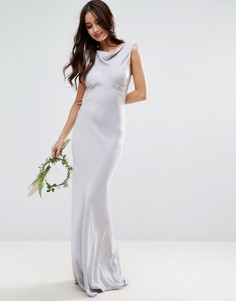 Платье макси в стиле 40-х ASOS WEDDING - Синий