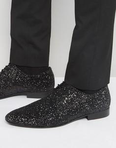 Черные блестящие туфли на шнуровке Dune - Черный