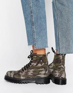 Ботинки с камуфляжным принтом на массивной подошве Park Lane - Мульти
