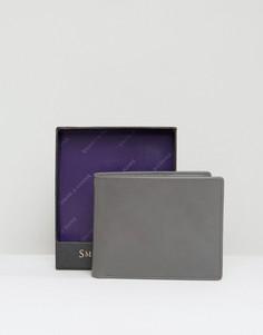 Классический кожаный бумажник Smith And Canova - Серый