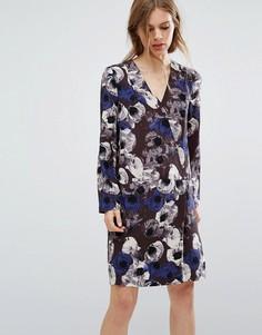 Платье с цветочным принтом Selected - Мульти