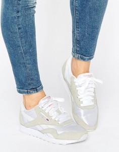 Женские классические бело-серые кроссовки Reebok - Мульти