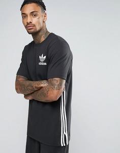 Черная длинная футболка adidas Originals BP8876 - Черный