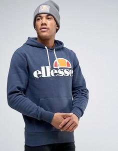 Худи с классическим логотипом Ellesse - Темно-синий