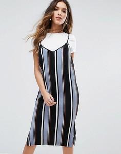 Платье на бретельках 2-в-1 в полоску Missguided - Мульти