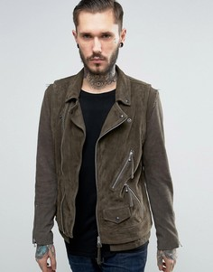 Кожаная куртка AllSaints - Серый
