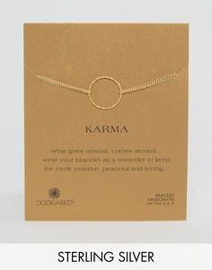 Позолоченный браслет с двумя цепочками Dogeared Karma - Золотой