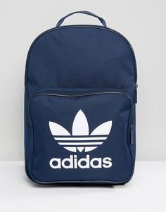 Темно-синий рюкзак с трилистником и передним карманом adidas Originals BK6724 - Темно-синий