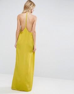 Платье-халтер макси ASOS - Желтый
