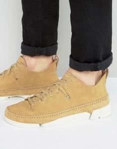 Нубуковые кроссовки Clarks Original Trigenic - Бежевый