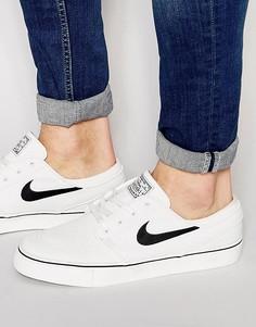 Мужские белые парусиновые кроссовки Nike SB Zoom Stefan Janoski 615957-100 - Белый