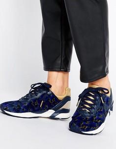 ed109162 Темно-синие кроссовки с цветочным принтом Le Coq Sportif R Xvi - Красный