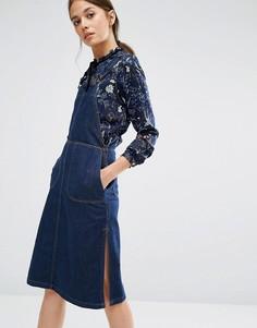Джинсовое платье ниже колен Vero Moda Marika - Синий