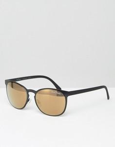 Черные круглые солнцезащитные очки Black Phoenix - Черный