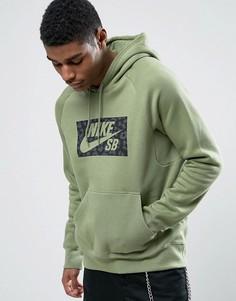 Худи зеленого цвета с логотипом Nike SB Icon 837932-387 - Зеленый