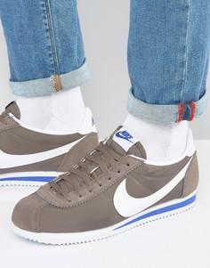 Серые нейлоновые кроссовки Nike Cortez 807472-200 - Рыжий