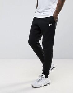 Черные клубные джоггеры с манжетами Nike 804408-010 - Черный