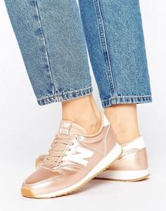Кроссовки цвета розового золота New Balance 420 - Золотой