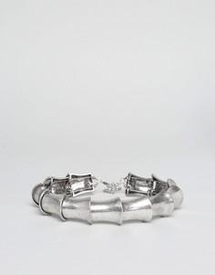 Серебристое ожерелье-чокер в стиле доспехов ASOS - Серебряный