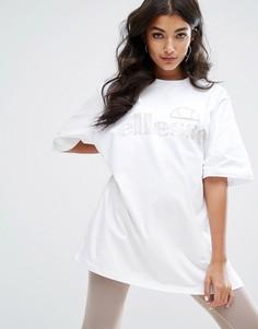 Oversize-футболка с логотипом Ellesse - Белый