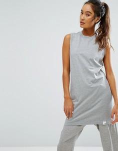 Серая длинная майка adidas XByO - Серый