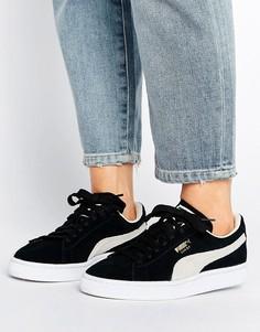 Черные замшевые кроссовки Puma Classic - Черный