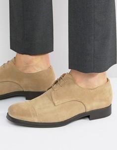 Замшевые туфли Selected Homme Oliver - Светло-серый
