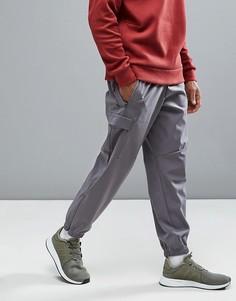 Серые джоггеры с манжетами и карманами по бокам adidas Originals ZNE B46964 - Серый