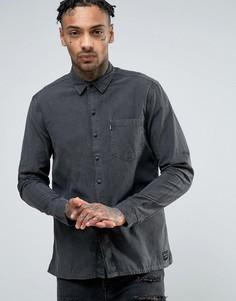 Серая окрашенная рубашка из меланжевой саржи Levis Line 8 - Серый