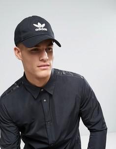 Черная кепка с трилистником adidas Originals BK7277 - Черный