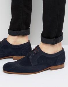 Замшевые туфли дерби Ted Baker Granet - Темно-синий