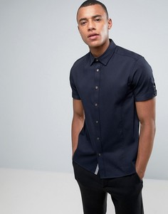Фактурная рубашка с короткими рукавами Ted Baker - Темно-синий