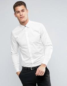 Рубашка со скрытой планкой Ted Baker - Белый