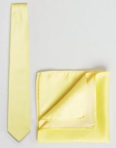Галстук и платок для пиджака ASOS WEDDING - Желтый