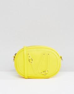 Желтая маленькая сумка через плечо Versace Jeans - Золотой