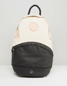 Парусиновый рюкзак с кожаной отделкой Stighlorgan Oisin - Черный