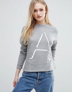 Укороченный свитшот ADPT Stage - Серый