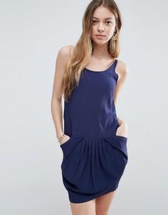 Платье-комбинация See U Soon - Темно-синий