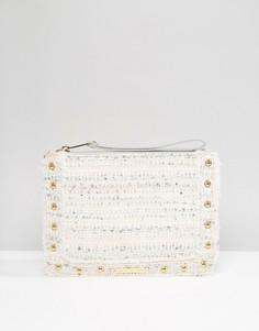 Твидовый клатч на молнии Juicy Couture - Мульти