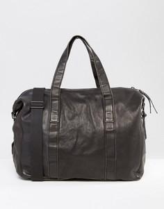 Кожаная сумка AllSaints - Черный