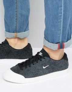Мужские черные низкие кроссовки Nike All Court 2 875785-001 - Черный